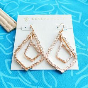 NWOT Kendra Scott Simon Earrings 14k Rose Gold